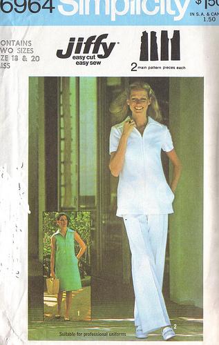 jiffy dress top pants 1970s Sewing pattern
