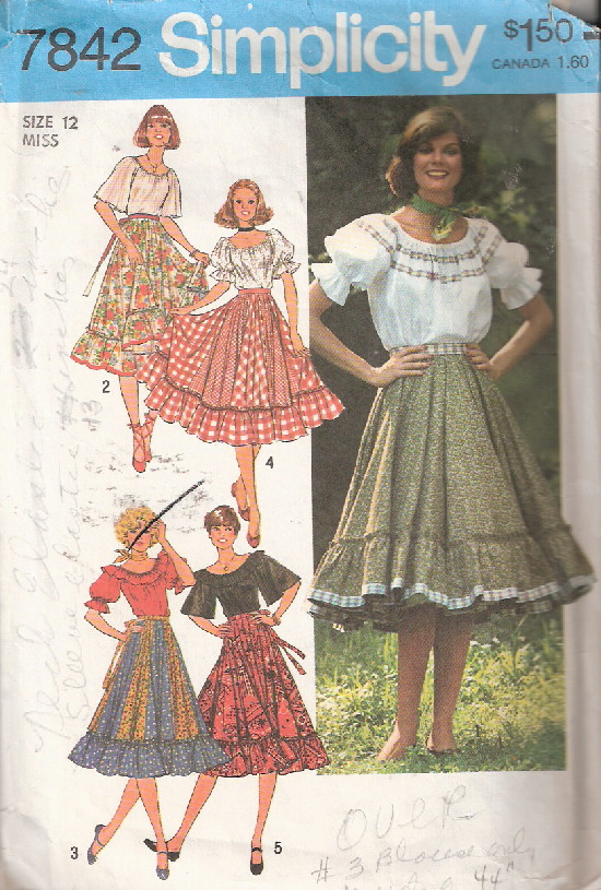 peasant blouse skirt sewing pattern