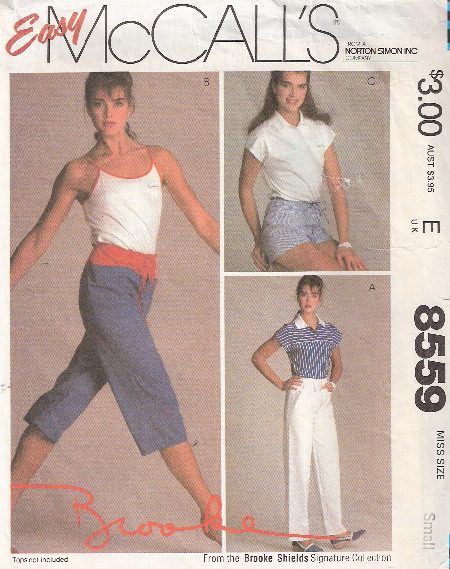 shorts capris pants sewing pattern