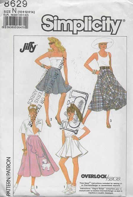 a3c5596ff1 circle skirt sewing pattern larger image, Simplicity 8629