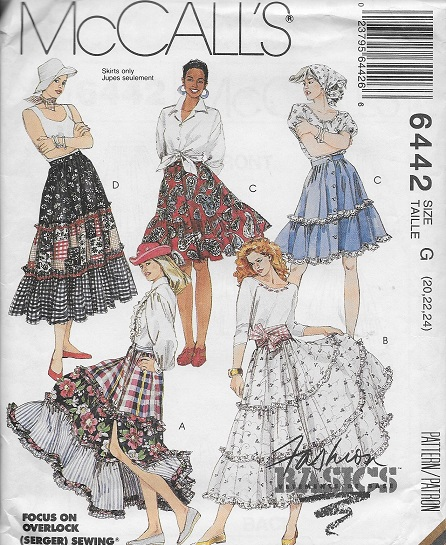 tiered skirt sewing pattern
