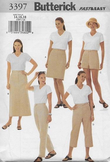 skirt shorts pants sewing pattern