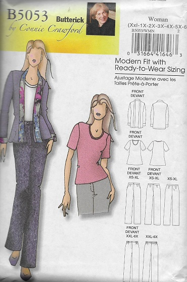 plus size jacket pants blouse sewing pattern