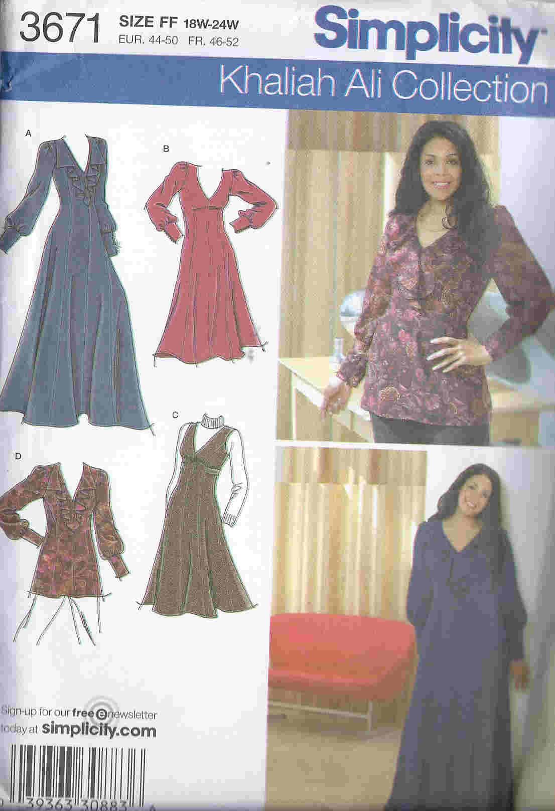 plus size jumper tunic dress sewing pattern