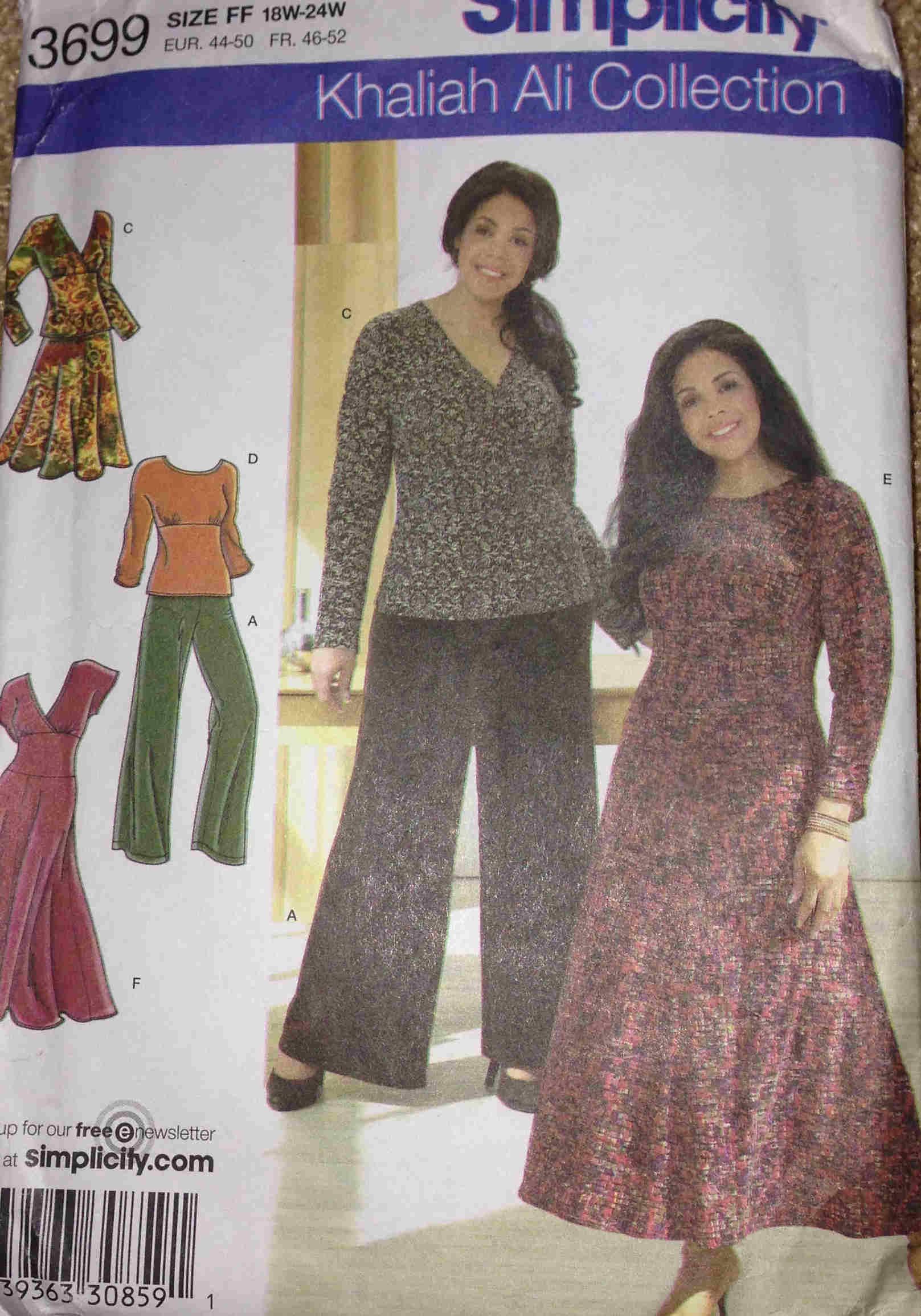 plus size top skirt pants dress sewing pattern