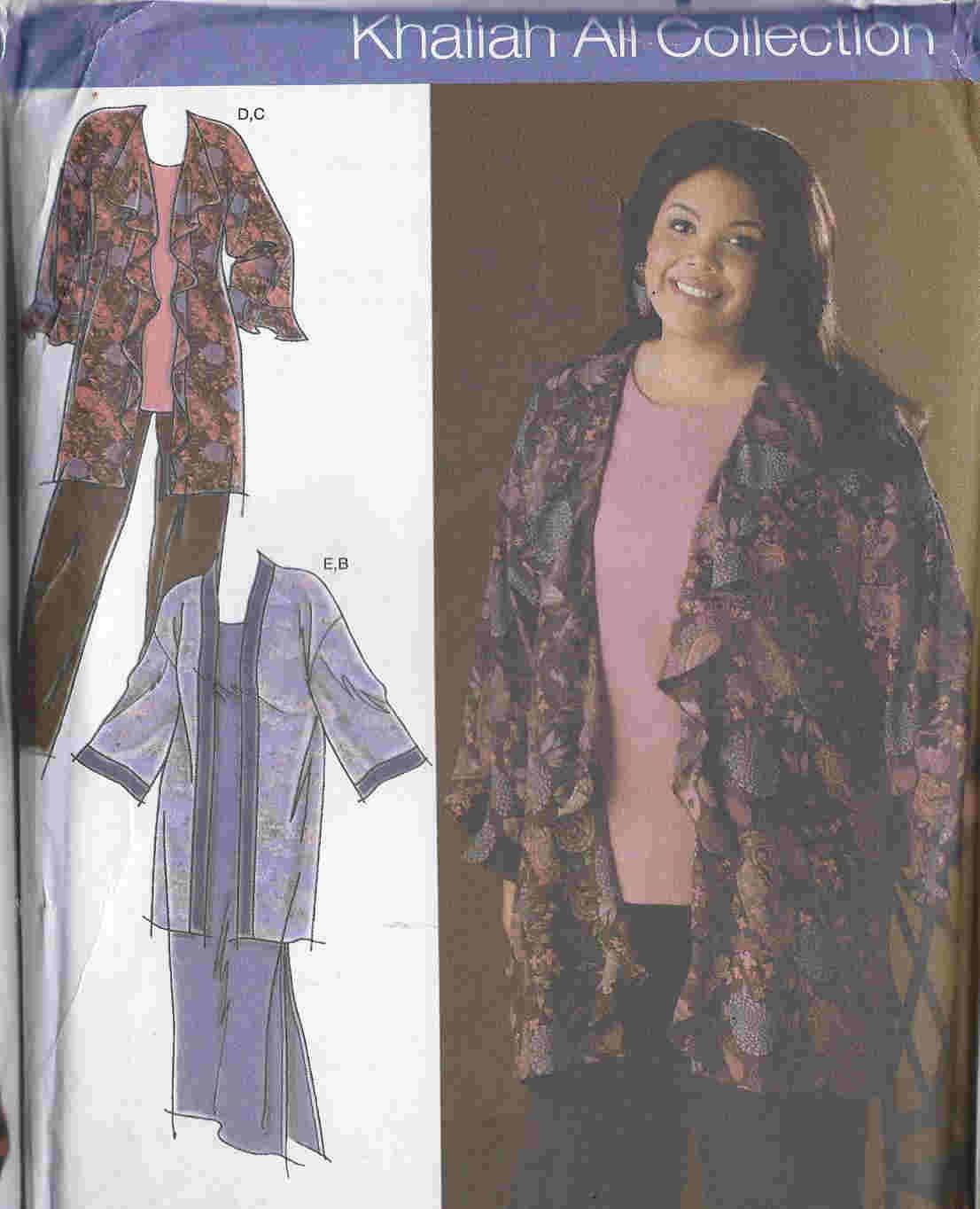 plus size tunic pants kimono dress sewing pattern