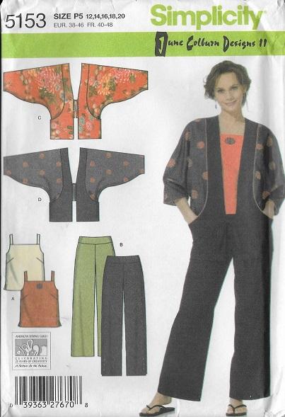 top jacket pants sewing pattern