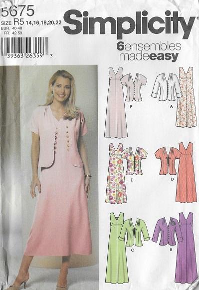 dress jacket ensemble sewing pattern