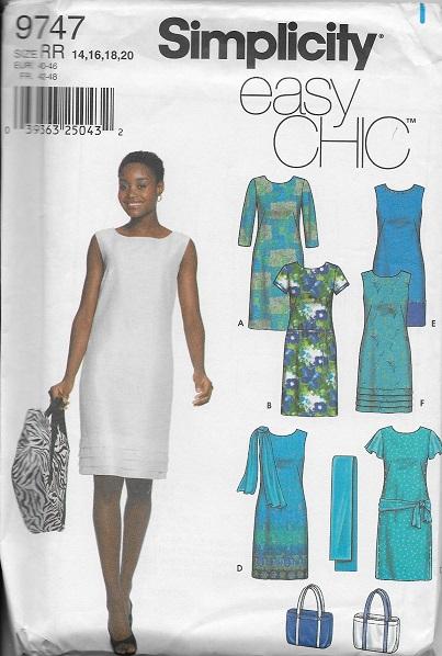 dress bag scarf sewing pattern