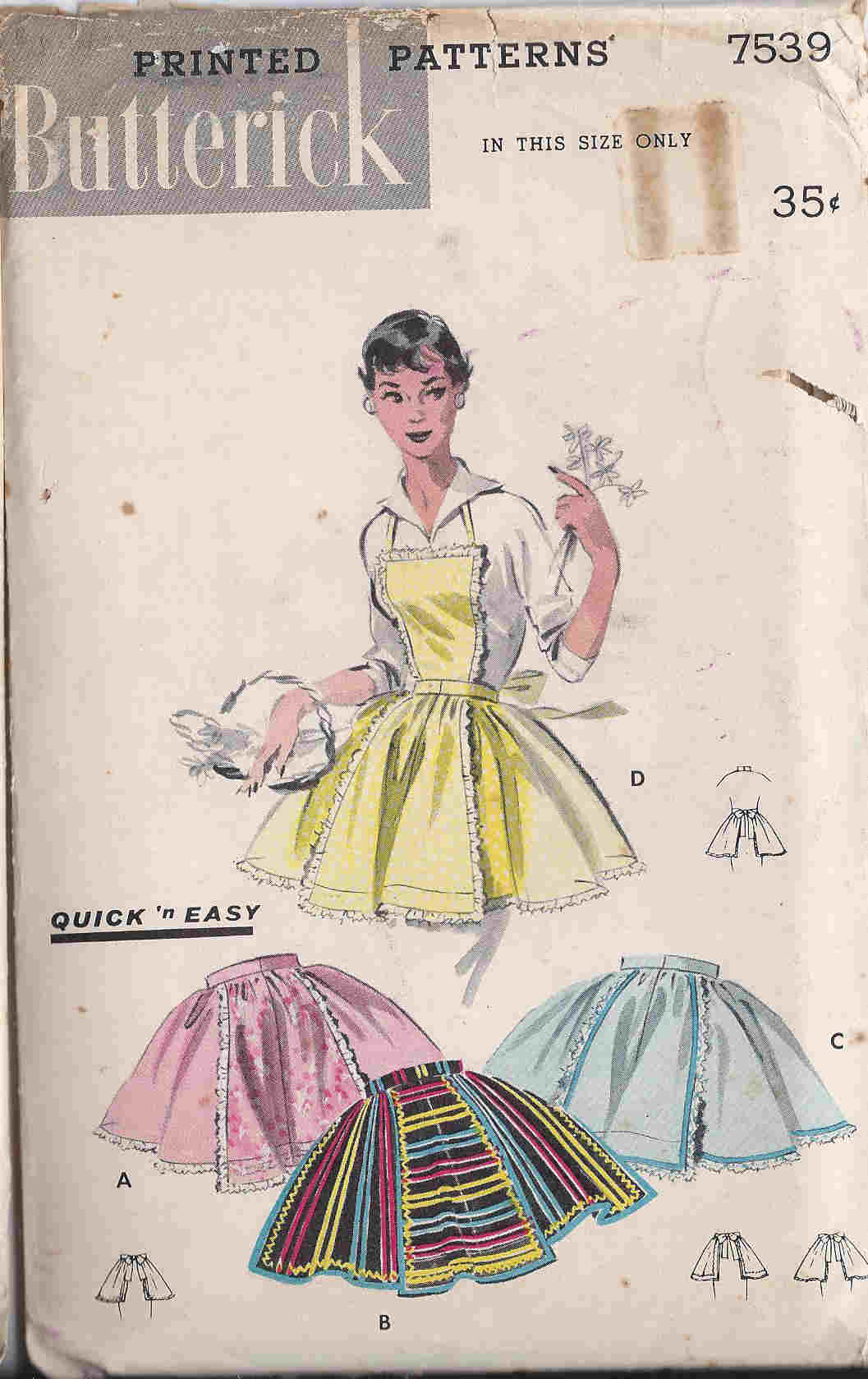 vintage hostess bib apron pattern