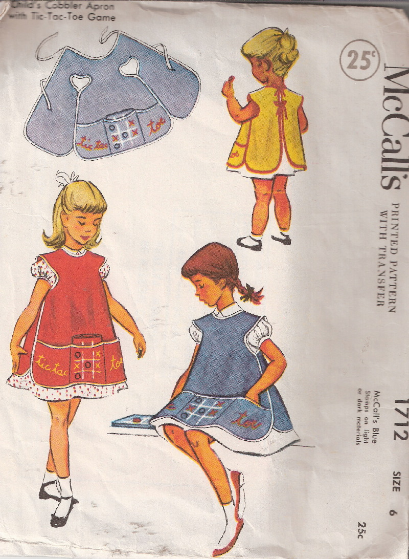 Vintage cobbler apron sewing pattern