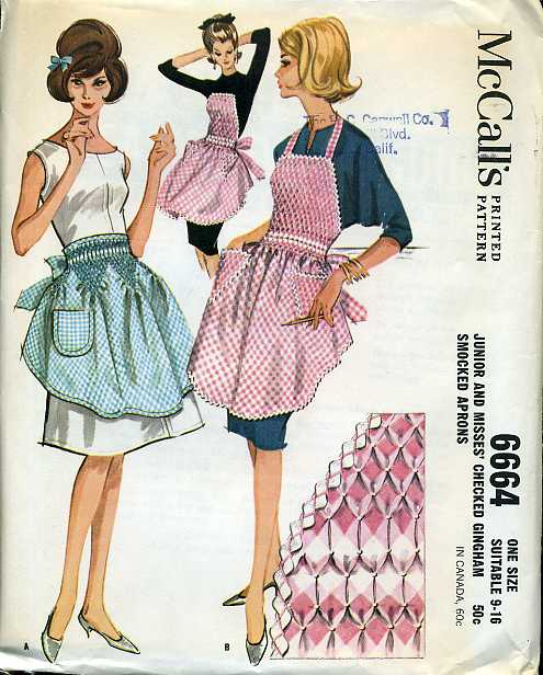 smocked apron sewing pattern
