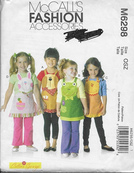 animal bib apron sewing pattern