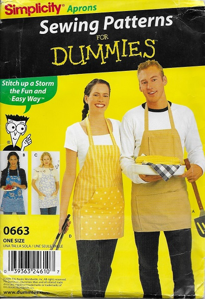 apron sewing for dummies pattern