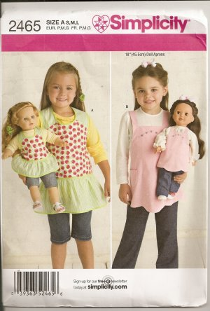 child doll apron sewing pattern