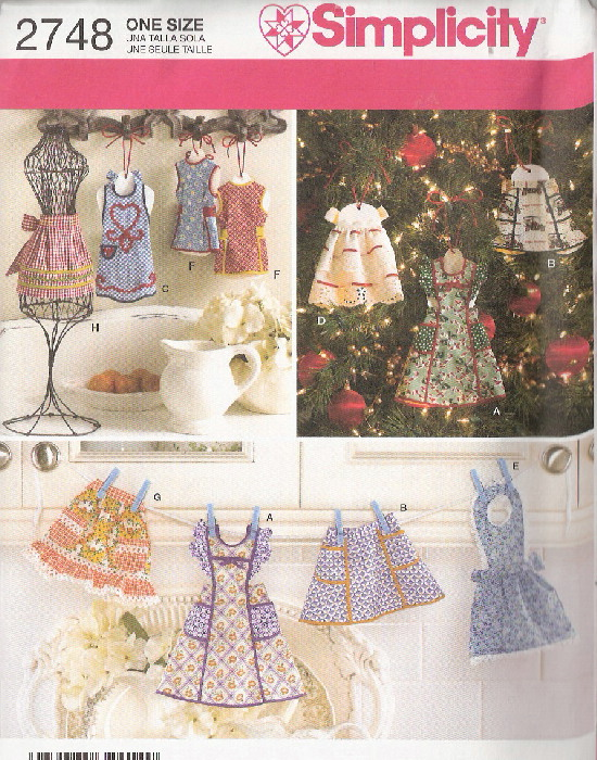 apron vintage ornament sewing pattern