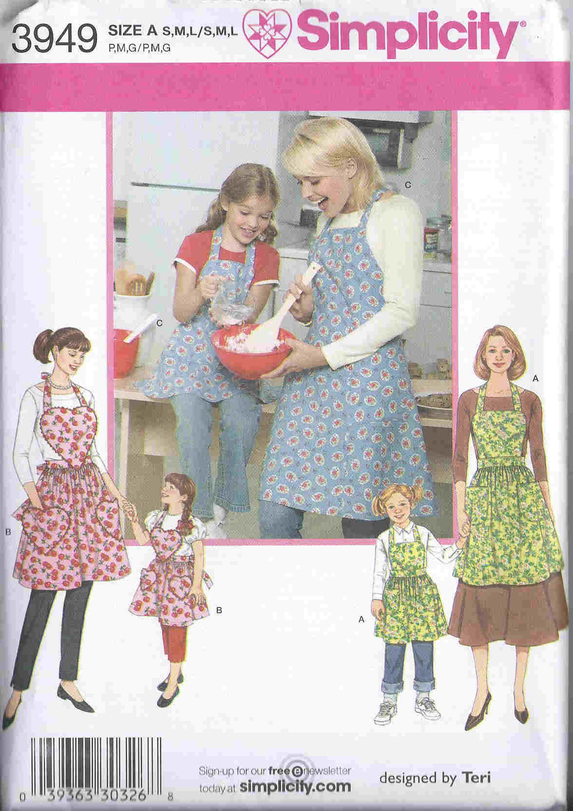 mother daughter apron sewing pattern