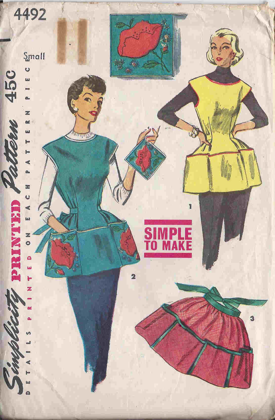vintage cobbler apron potholder sewing pattern