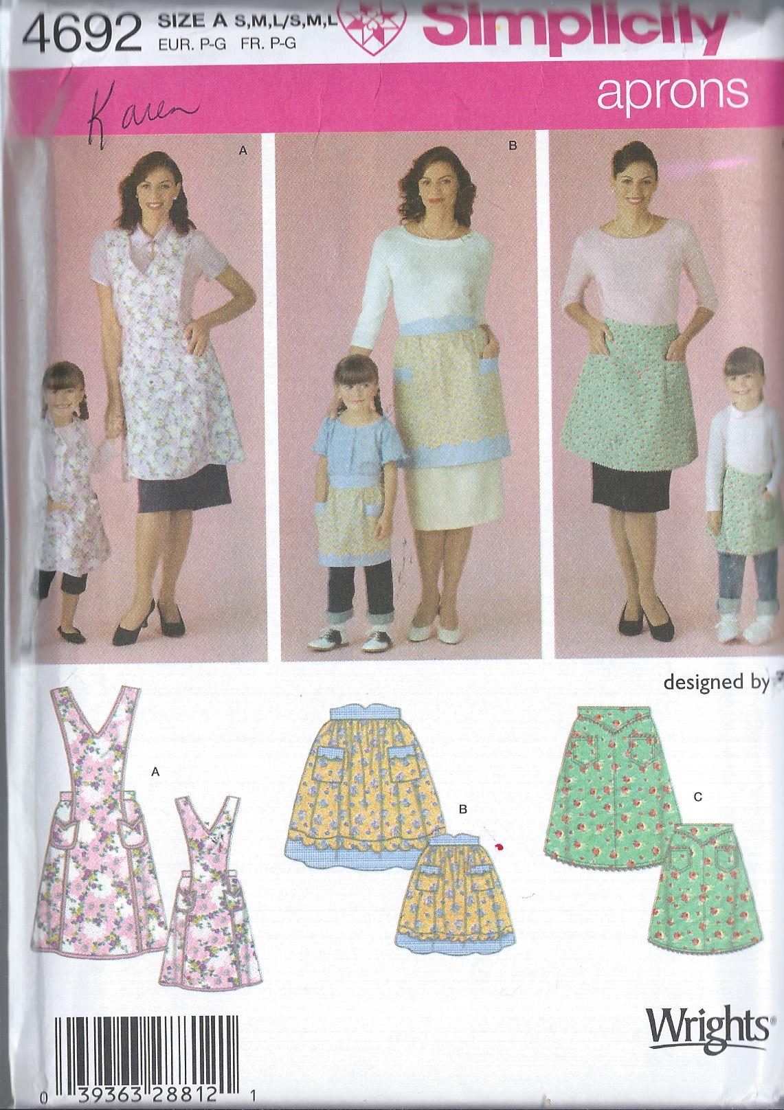 mother child apron sewing pattern