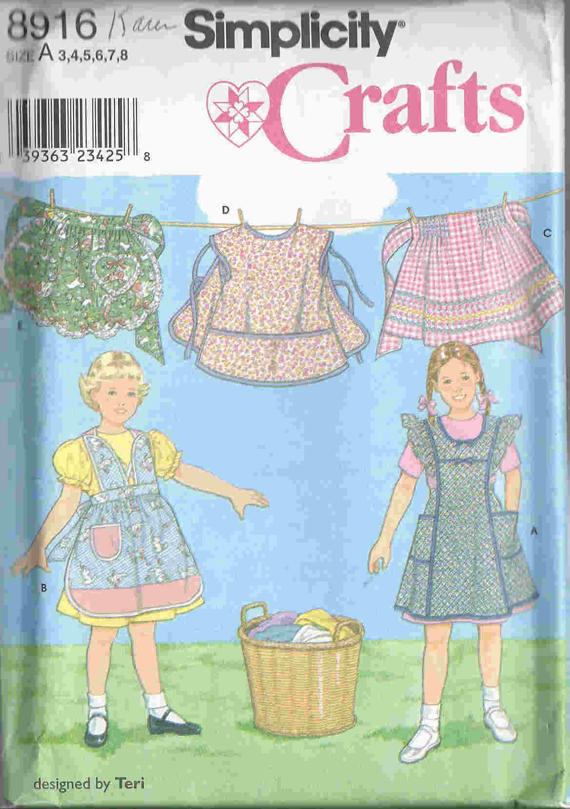 child apron sewing pattern