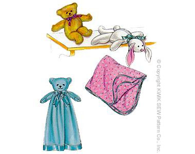 baby blanket bunny bear sewing pattern