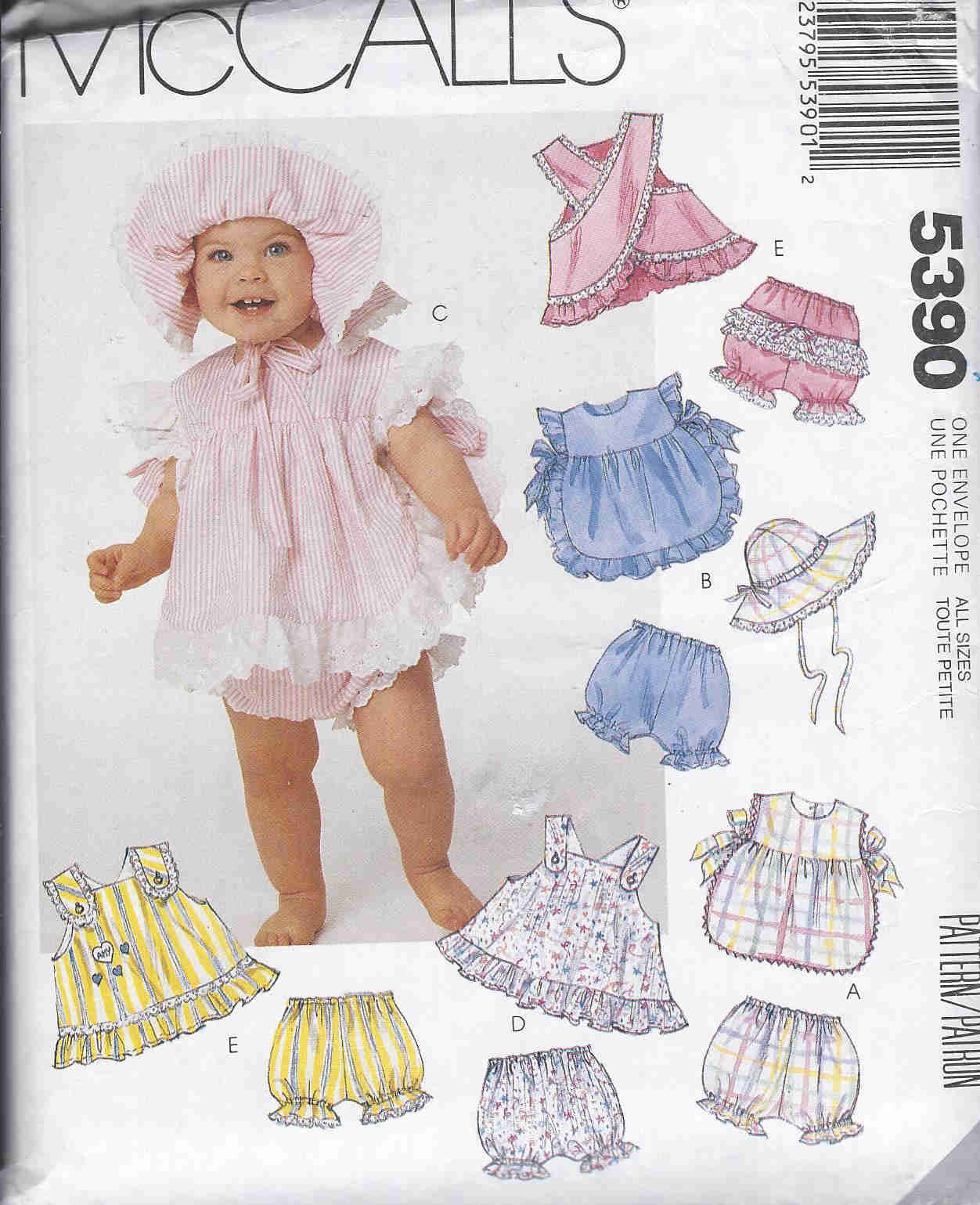 baby sundress panties hat sewing pattern