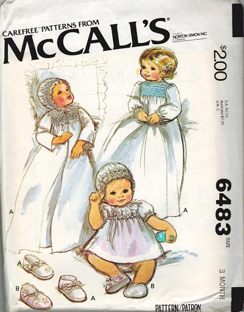 baby coat dress bonnet shoes smocking sewing pattern