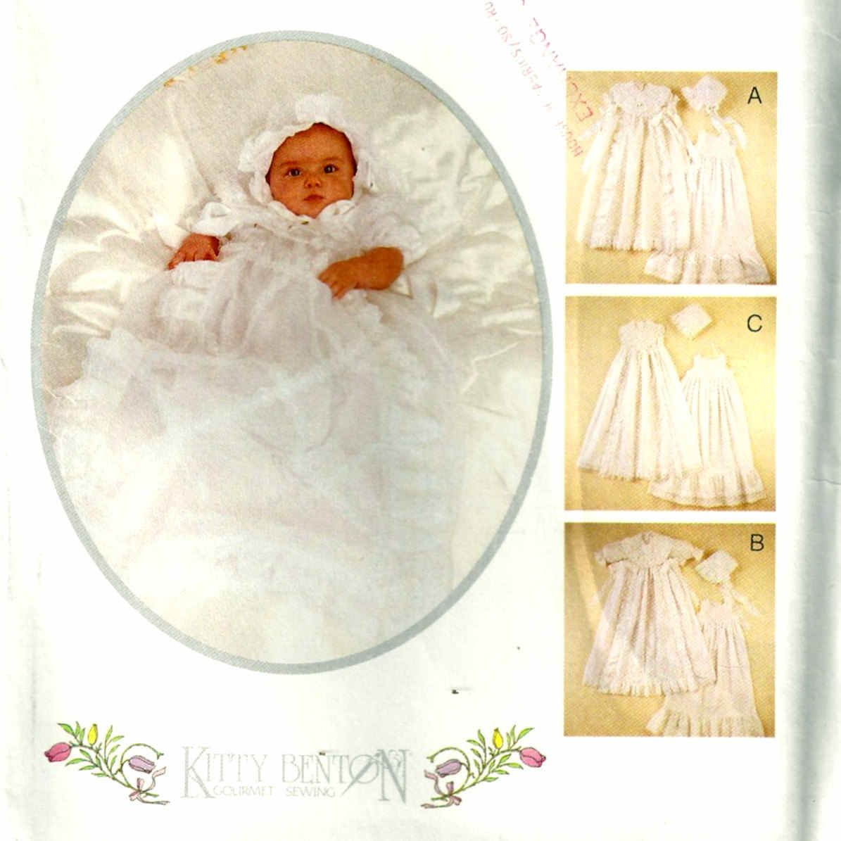 baby gown slip bonnet sewing pattern