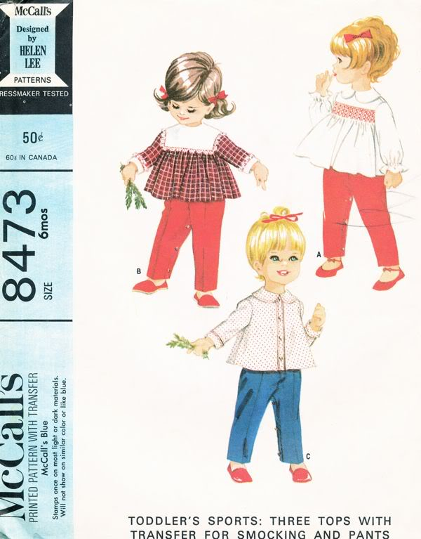 baby top pants smocking sewing pattern