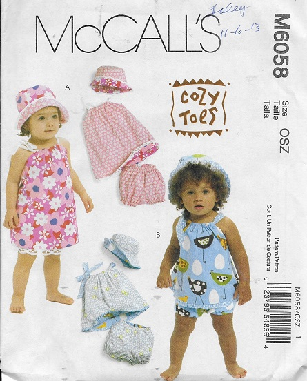 cozy toes dress panties hat sewing pattern