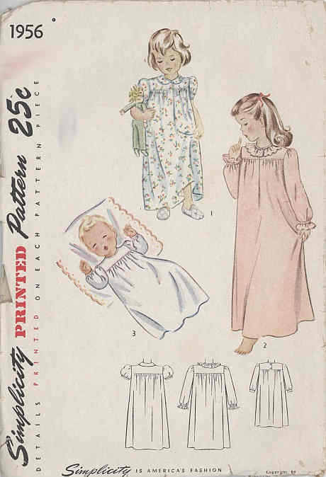 baby nightgown sewing pattern