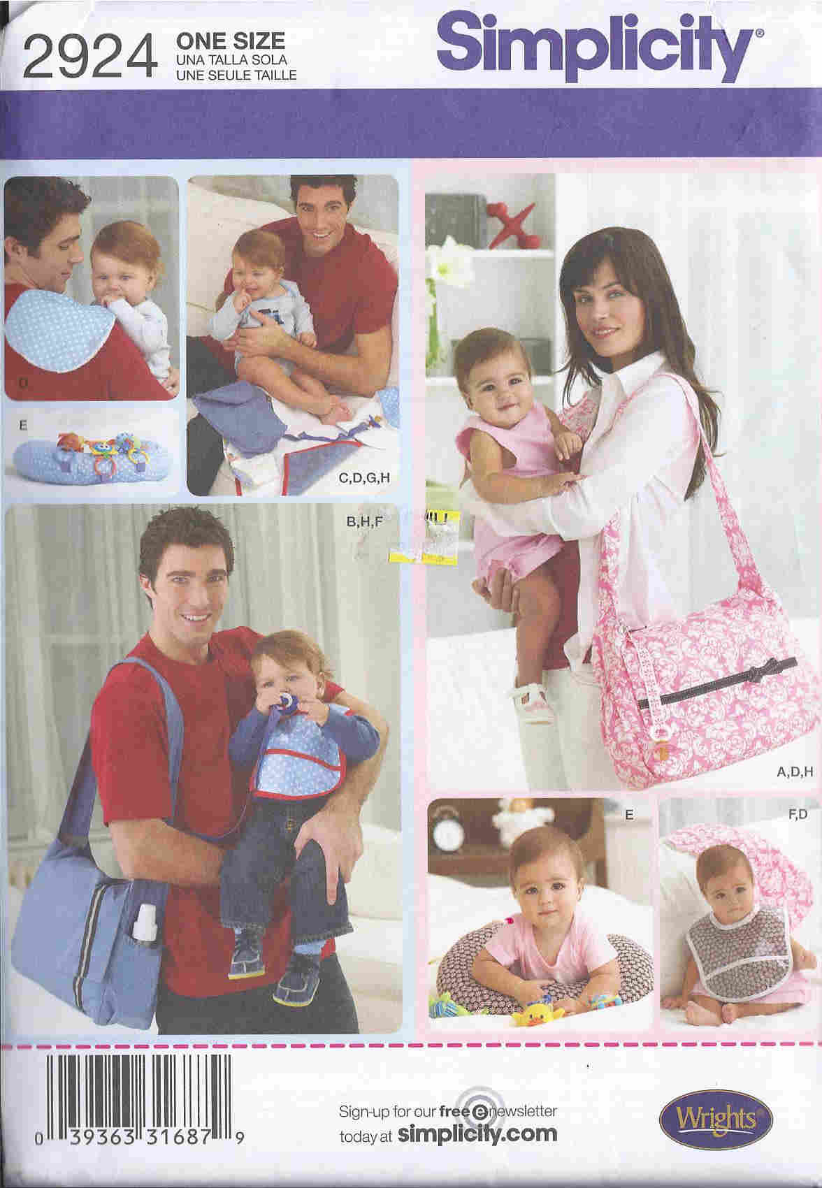 diaper bag pillow bib sewing pattern