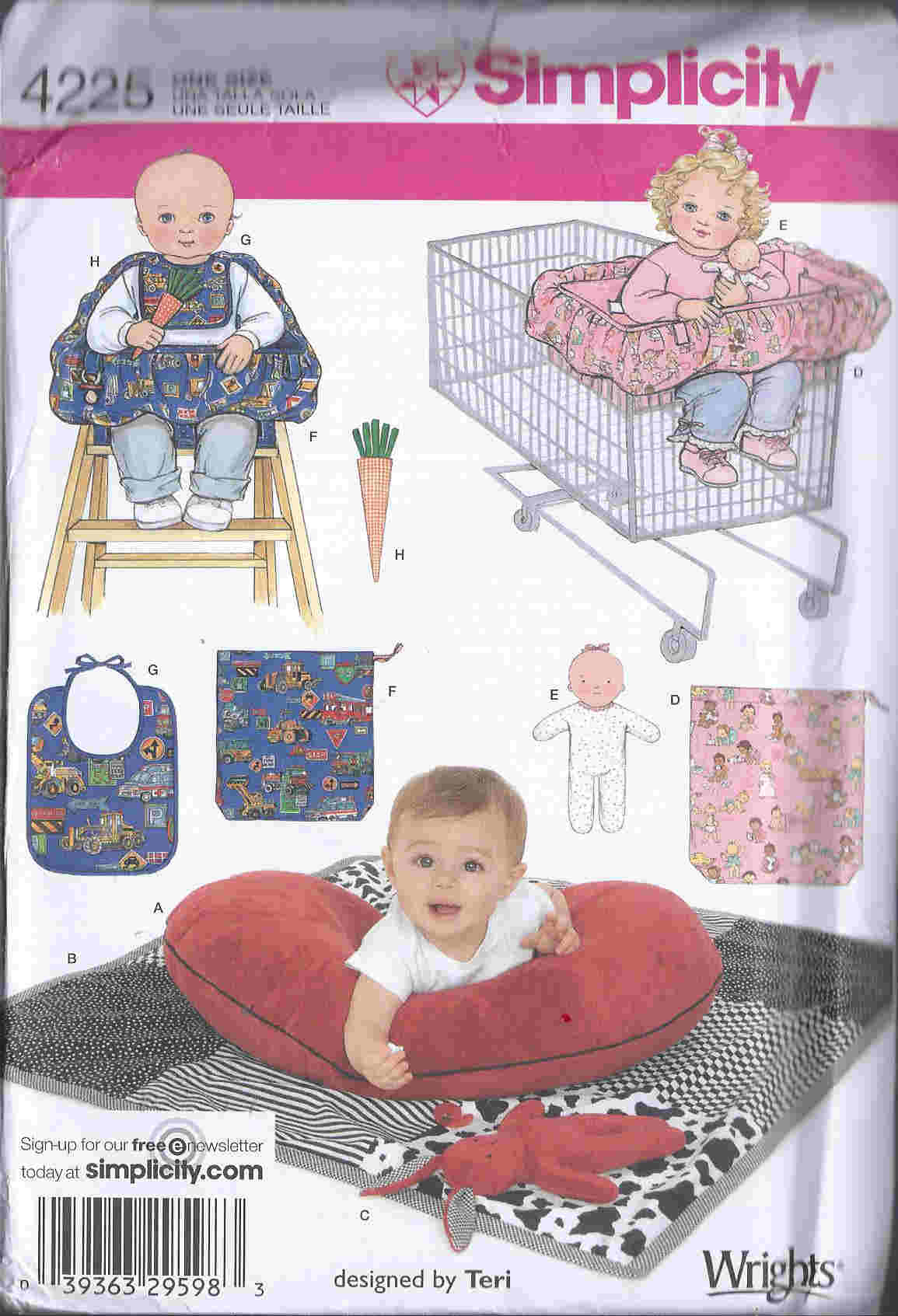 baby quilt pillow bib sewing pattern