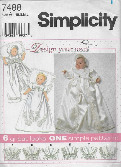 christening gown coat bonnet sewing pattern