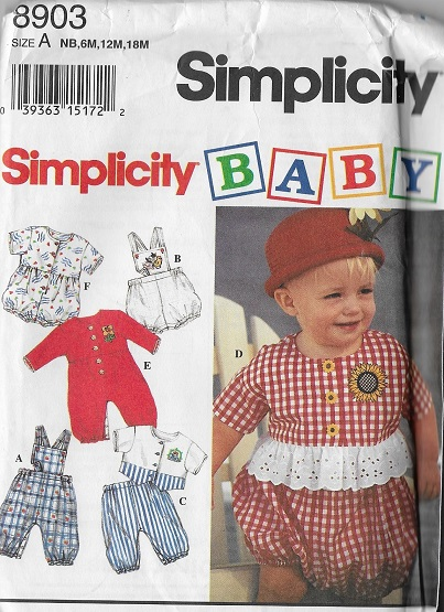 baby romper top pants panties sewing pattern