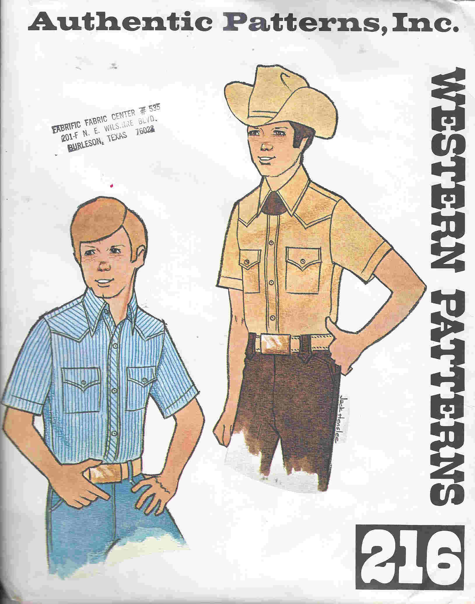 Western Shirt sewing pattern