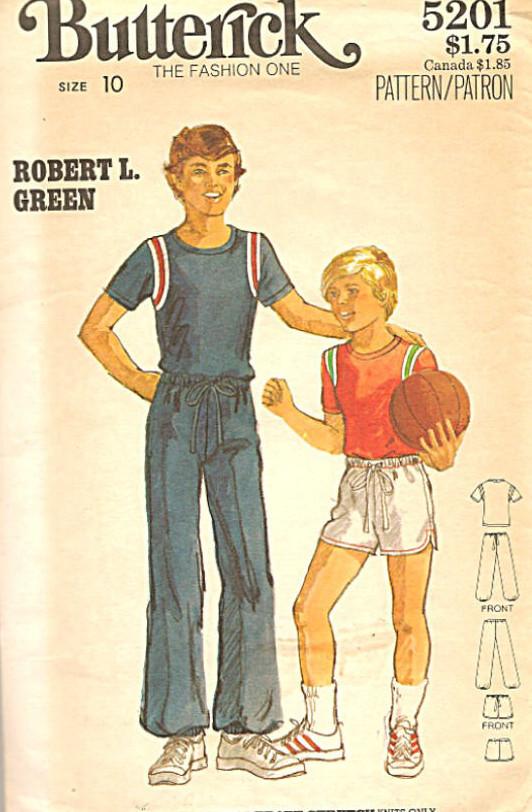 t-shirt shorts pants sewing pattern