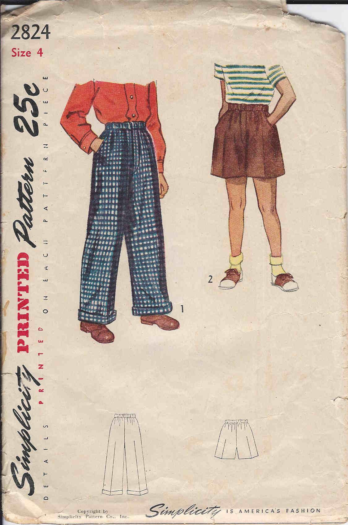 boxers shorts slacks sewing pattern