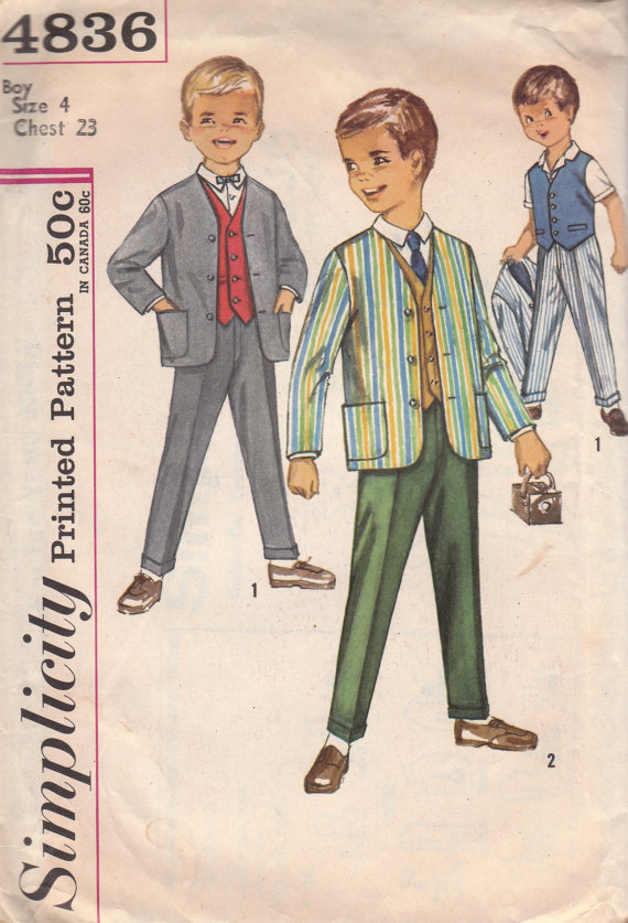 jacket vest pants sewing pattern