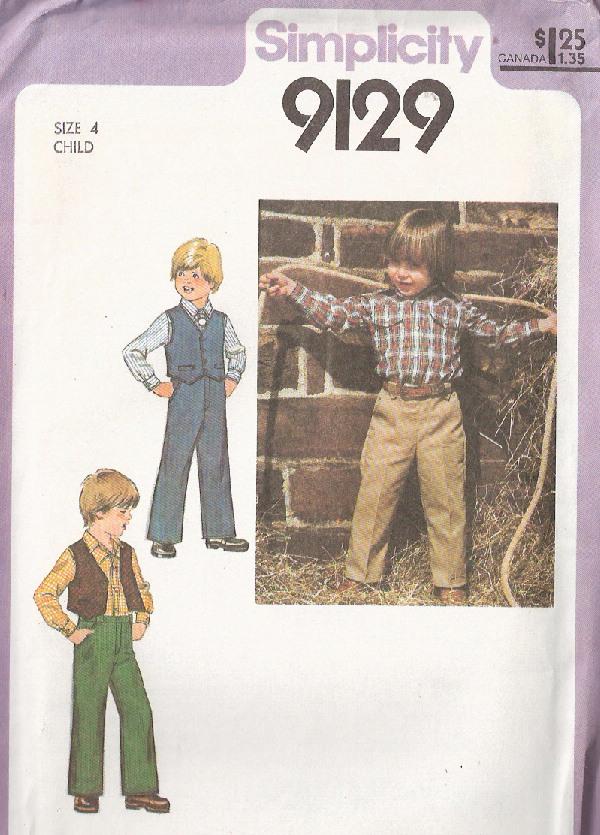 shirt pants vest sewing pattern