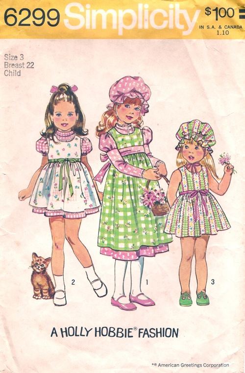 Holly Hobbie dress jumper sewing pattern