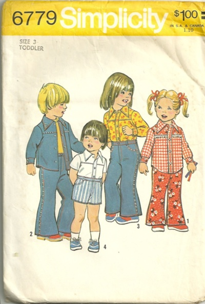 bell bottom pants shorts shirt sewing pattern