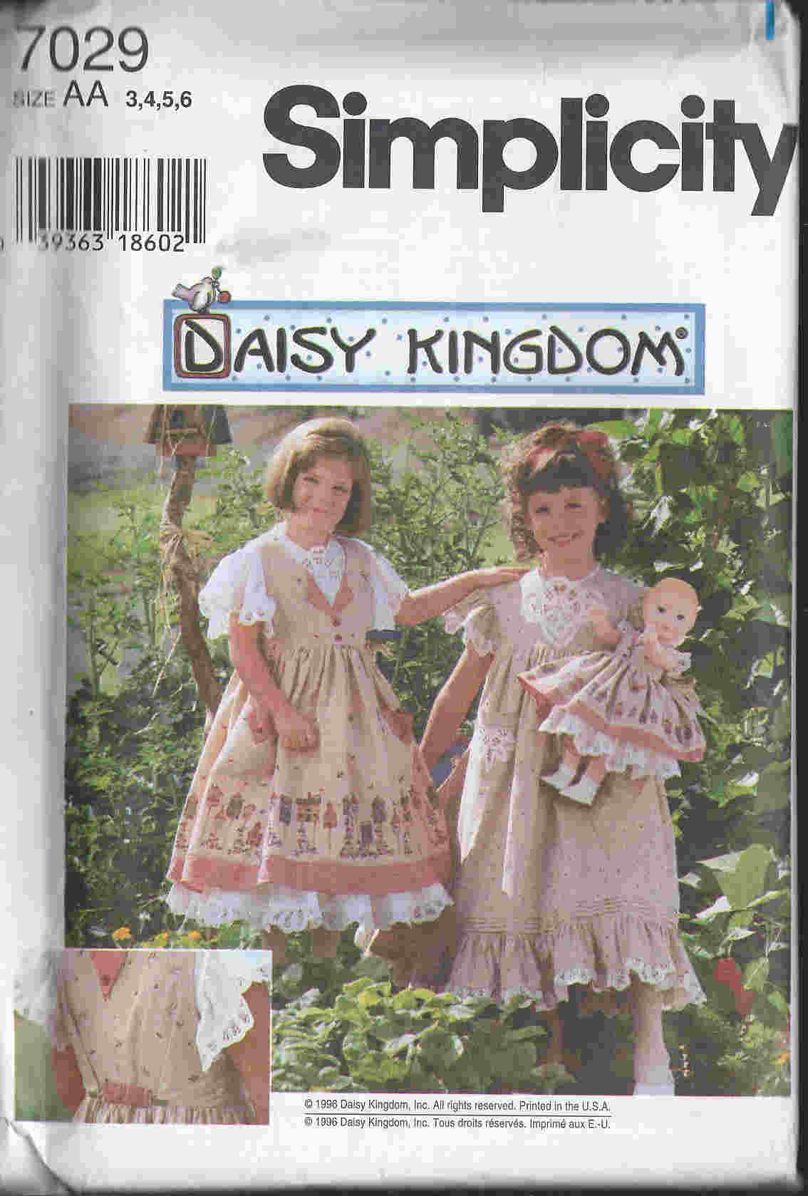Daisy Kingdom dress doll sewing pattern