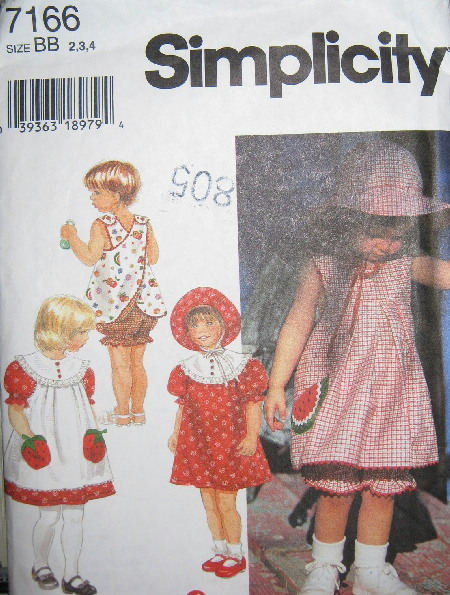 dress pinafore top panties hat sewing pattern