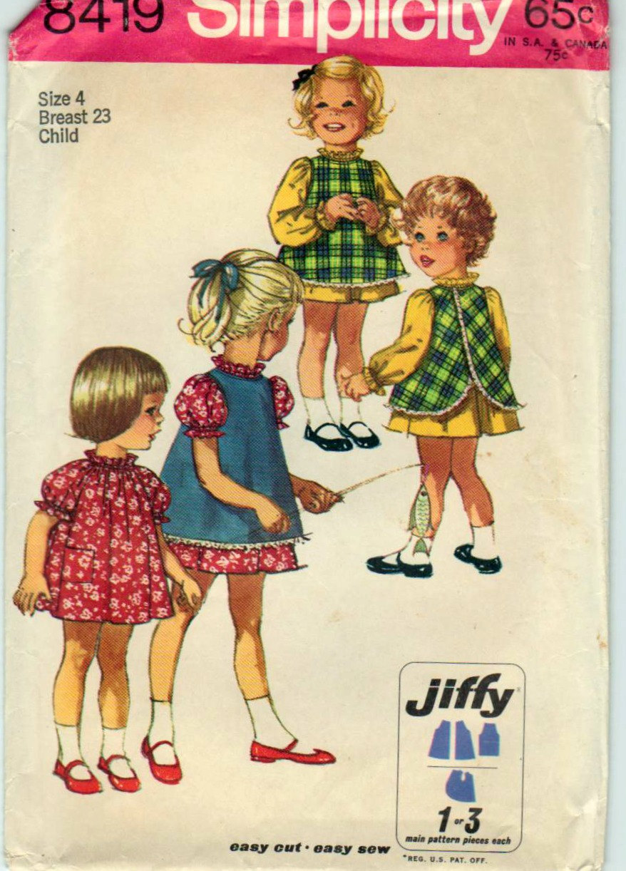 jiffy dress pinafore sewing pattern