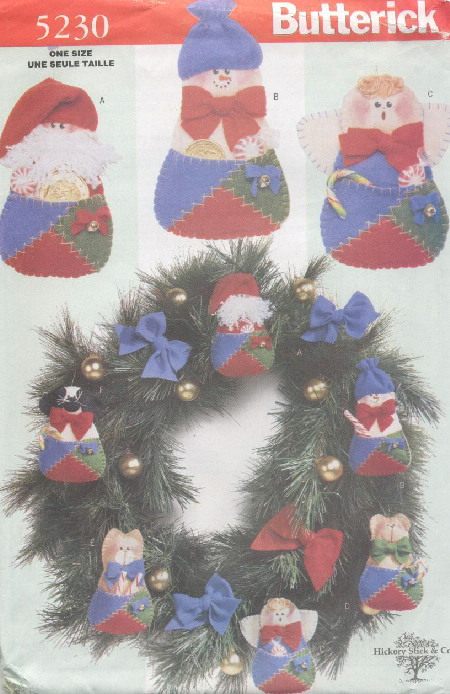 christmas ornaments sewing pattern