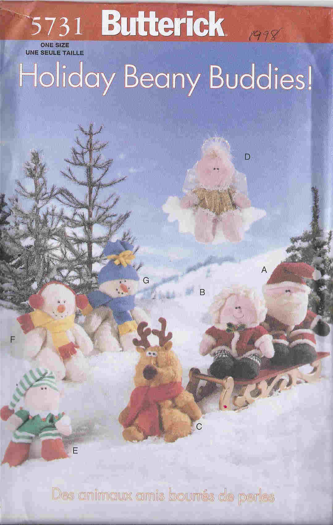 Holiday Beanie Babies sewing pattern
