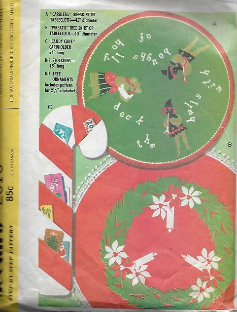 christmas stockings tree skirt ornaments sewing pattern