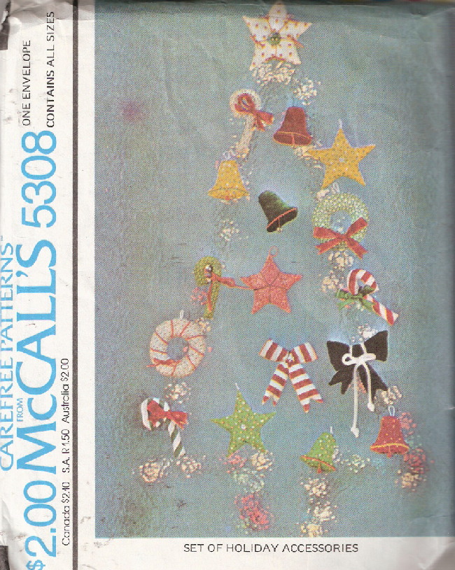 candy cane star bells holly holiday sewing pattern