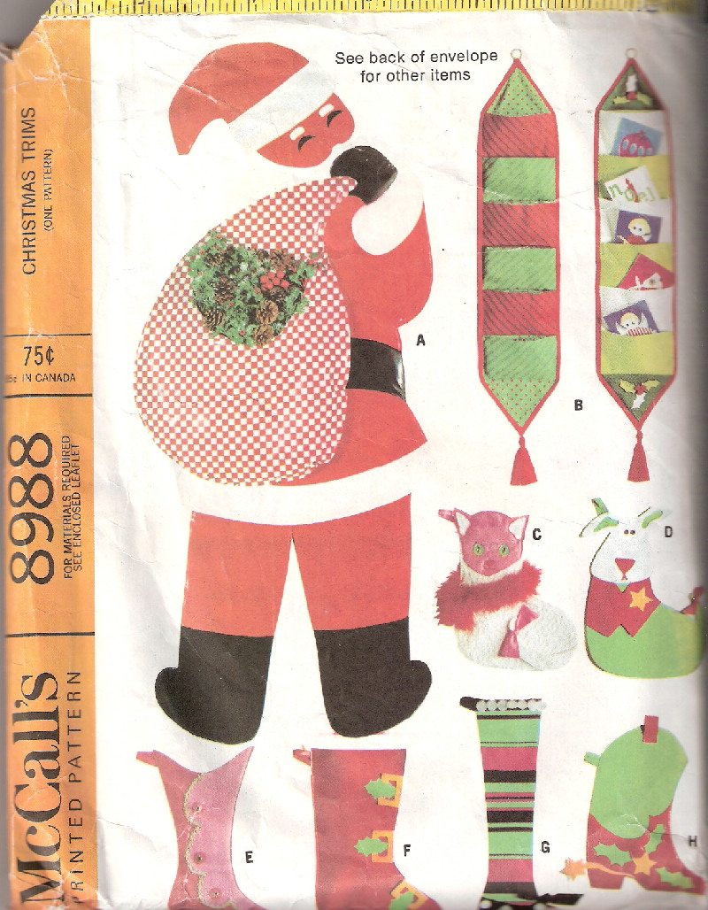santa stockings tree skirt sewing pattern